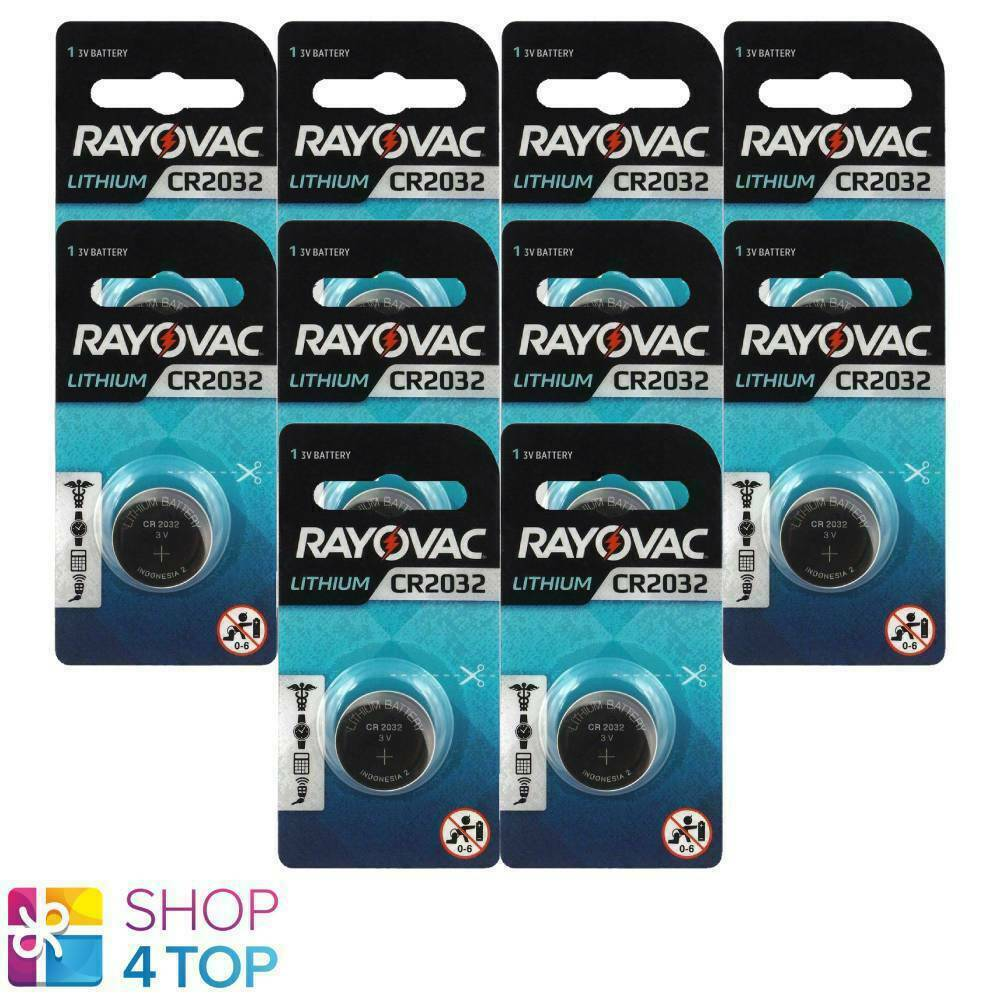 10 rayovac cr2032 lithium batteries 3v Cell Coin Button Exp 2026 new indonesia