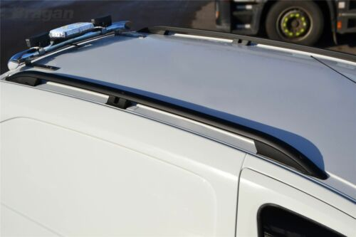 Mercedes Vito Viano MWB LWB Black Aluminium Roof Rails Rack Bars To Fit 2014