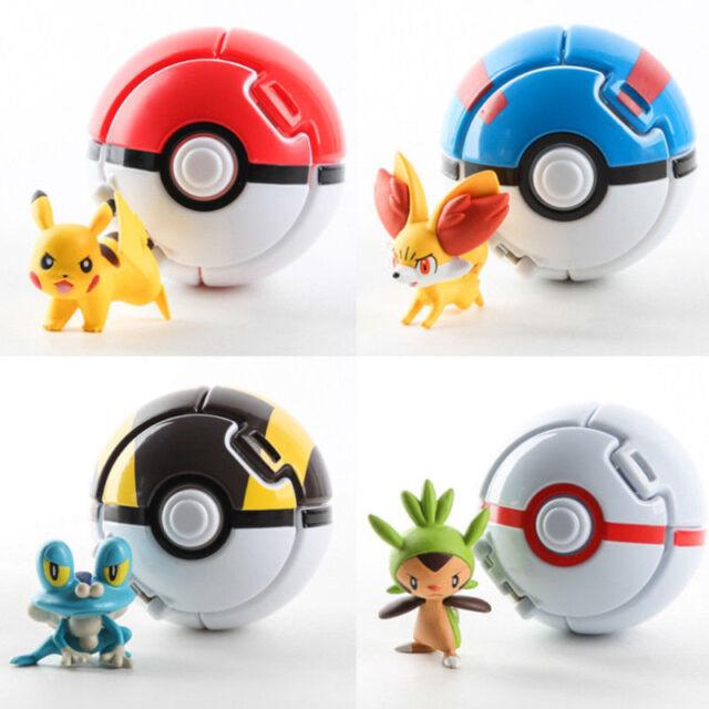 13x Pokemon pikachu Pokeball Cosplay Pop-up Master Great Ultra poke Ball Toy USA