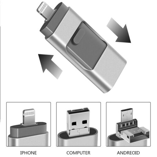 3 in 1 OTG 15-20M//S Flash Drive Memory Stick PenDrive for iPhones PC Android