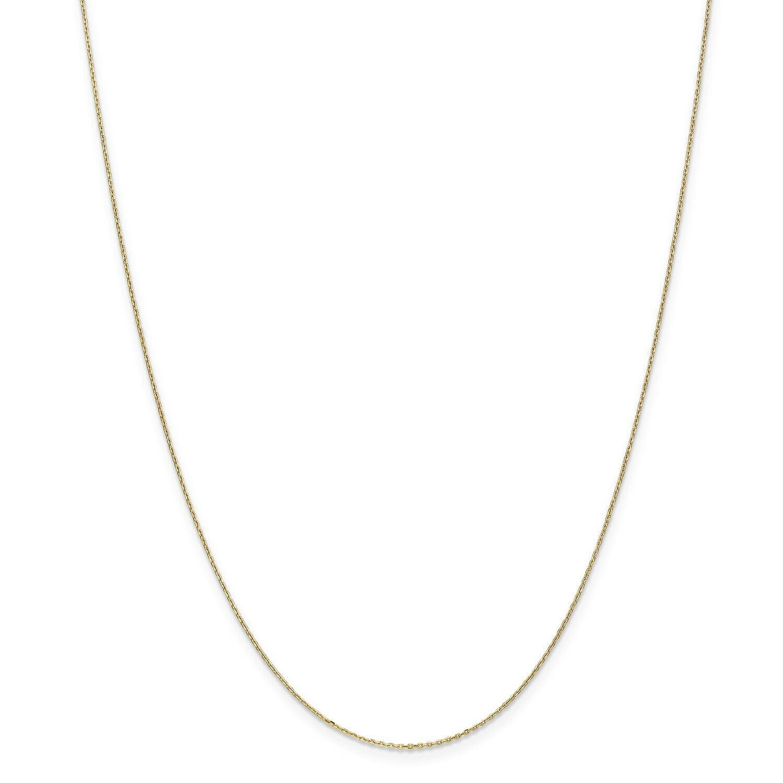 14k oro Giallo 0.80mm Taglio Diamante Gancetto di Collegamento Catena Catena Catena con   1e7207