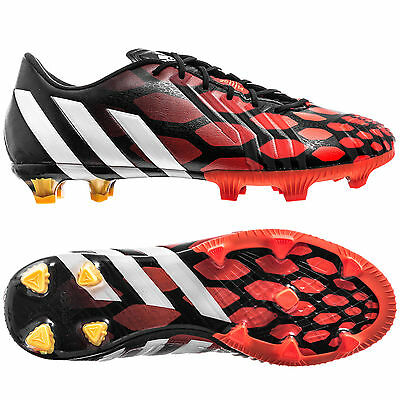 Adidas Predito Instinct FG Mens Studded Football Trainers Boots  White /& Crimson