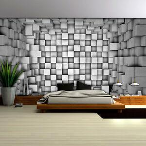 Wand Muster poster wandbild tapeten fototapete wand muster quadrat betontube 3d