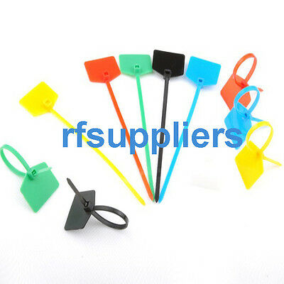 100x 3*120mm CABLE TIES Write on labels-Organise your leads and cable