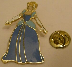 CINDERELLA-in-blue-gown-Disney-vintage-pin-badge