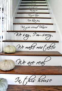 Details About Quote Decal Decor Home Sticker Vinyl Stairs Staircase Steps  Sayings Text Family