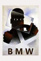 Driving A Fast Fashion Germany German Bmw Car Vintage Poster Repro Free Sh