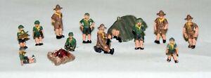 Cub-Scouts-Camp-People-A114-UNPAINTED-N-Gauge-Scale-Langley-Models-Kit-Figures