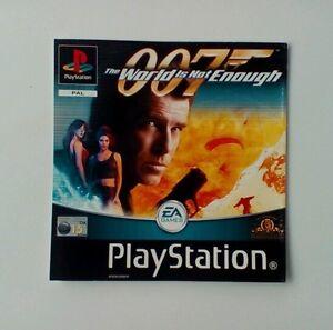 * Incrustation Avant Seulement 007 Le Monde Ne Suffit Pas Incrustation Avant Ps1 Psone Playstation-afficher Le Titre D'origine Y9hw7sqb-07180211-852255935