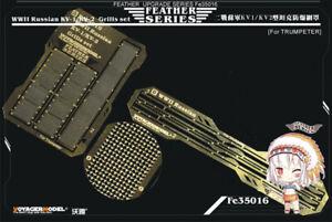 Voyager-Models-1-35-WWII-Russian-KV-1-KV-2-Grills-Set-for-Trumpeter-kits