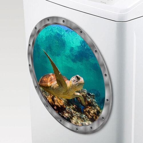 Wall Stickers Waterproof Turtle Sticker for Washing Machine Decoration  OI