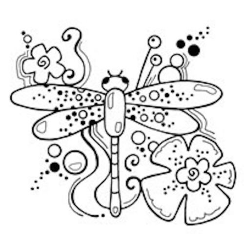 Dragonfly Woodware clear singles acrylic stamp