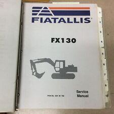 Fiat Allis Fx130 Excavator Service Shop Repair Manual Troubleshooting Guide Book