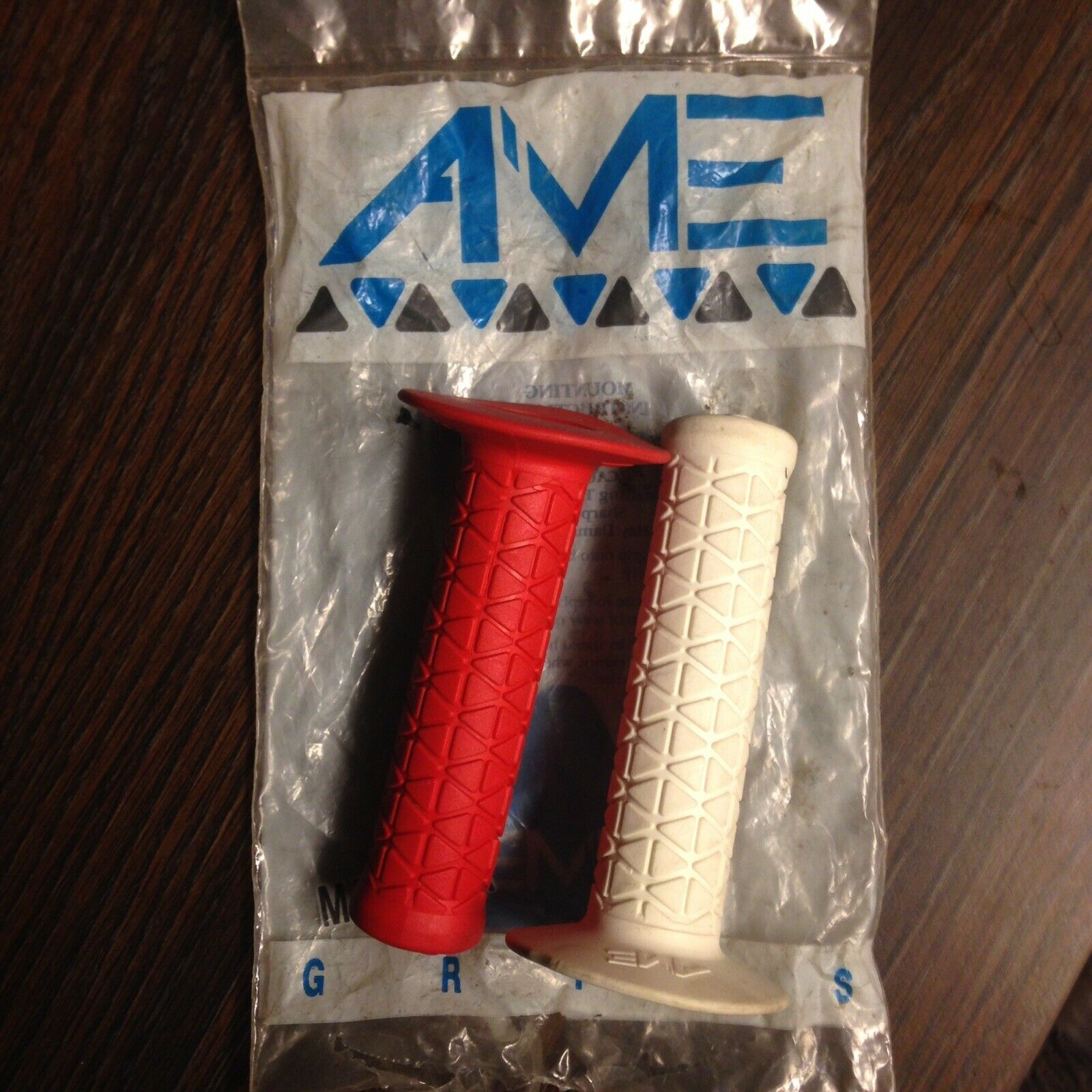 NOS AME BMX Grips (Old School Vintage Tri Triangle)