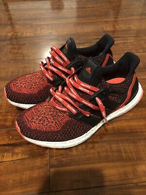 Adidas Ultra Boost 2.0 Mens Running Shoes Solar Red Black AQ5930 ...
