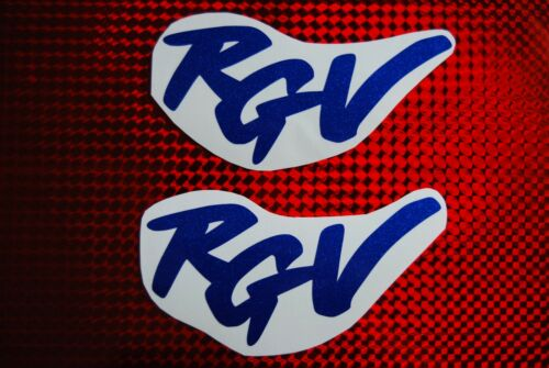 2 x Suzuki RGV 250 Blue Metal Flake Stickers