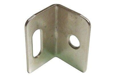 Nickel-Plated Steel Angle Bracket Steel Screw Fixing With Vertical Slot