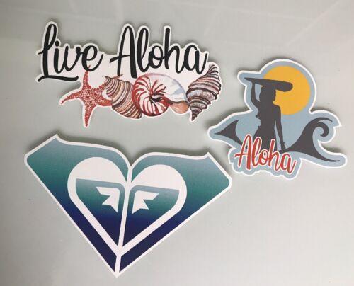 Surf Sticker Lot Roxy Reef Quicksilver Rip Curl Surfer Girl Aloha Hawaii Waves