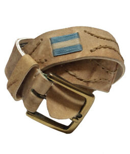 034-Argentina-034-Polo-Belt-100-Argentine-Embroidered-Rawhide-Leather