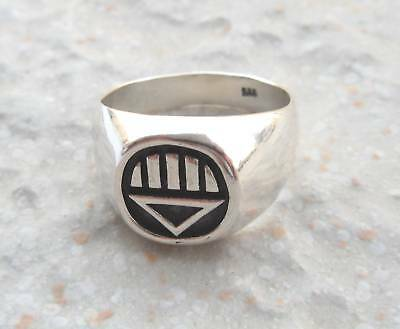 SILVER 925 BLACK CORPS (DEATH) GREEN LANTERN RING