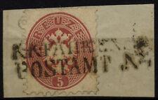 1864 5kr, K.K.FAHRENDES/POSTAMT
