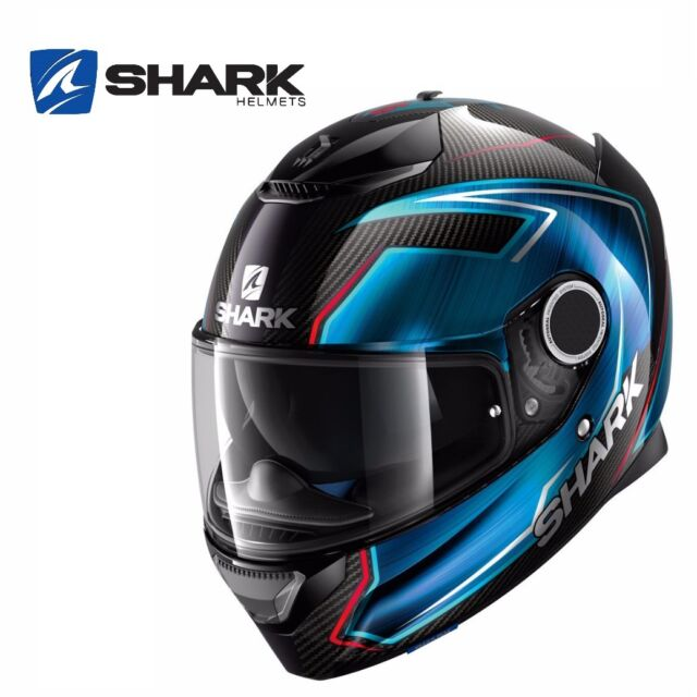casque int gral shark spartan carbon skin carbone rouge moto route circuit gp ebay. Black Bedroom Furniture Sets. Home Design Ideas