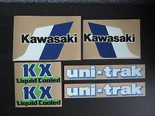 1983 KAWASAKI KX 80 GAS TANK, SWINGARM & SIDE PANEL DECAL KIT VINTAGE MOTOCROSS