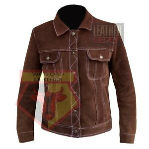 AMERICAN-WESTERN-NATIVE-BIKER-STYLE-1055-BROWN-CLASSIC-SUEDE-LEATHER-JACKET