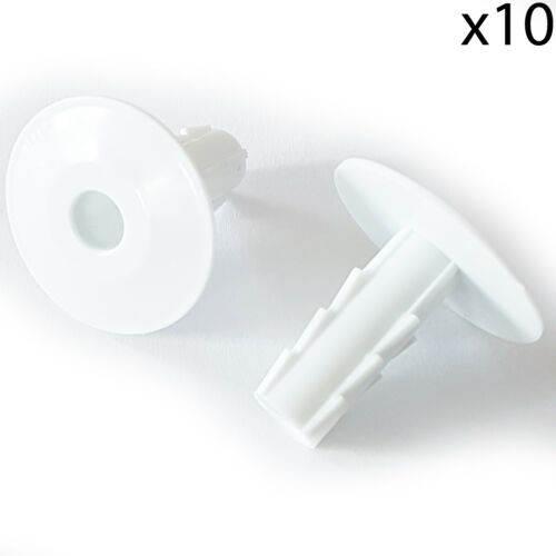 Feed Through Wall Bushes White Tidy Coaxial Cap 8mm Single Cable Hole Cover