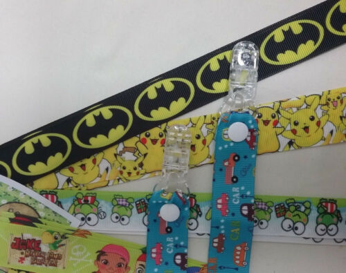 Pr MITTEN CLIPS cartoon characters you choose glove savers holders boy girl kids