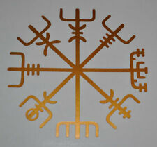 Icelandic Asatru VINYL DECAL Sticker Compass Futhark Ruin Vegvisir PAGAN Troth 4