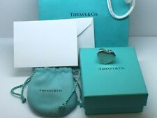 Tiffany & Co Paloma Picasso Double Modern Heart Ring Size 6 W Pouch & Bag
