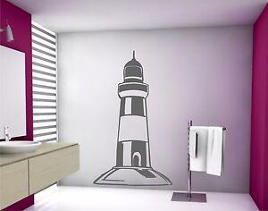 Color Prugna Per Pareti : Adesivo per parete faro marittimo mare da muro bagno decorazione