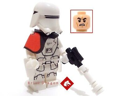 LEGO Star Wars First Order Snowtrooper inc kama /& backpack from set 75100