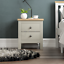 thumbnail 3 - Arlington 2 Drawer Bedside Chest of Drawers Table Cabinet Bedroom Storage Grey