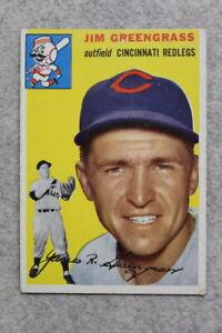 1954 Topps #22 JIM GREENGRASS - CINCINNATI REDS - Vintage Baseball Card