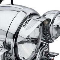 Harley Willie Skull Headlamp Headlight Visor Softail Street Glide Touring