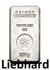 250 Gramm (g) Silberbarren Securitiy Line Schloß Güldengossa 999 Feinsilber