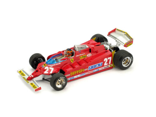 Driver 1:43 BRUMM Ferrari 126ck Turbo GP Usa Ovest 1981 Villeneuve #27 Race