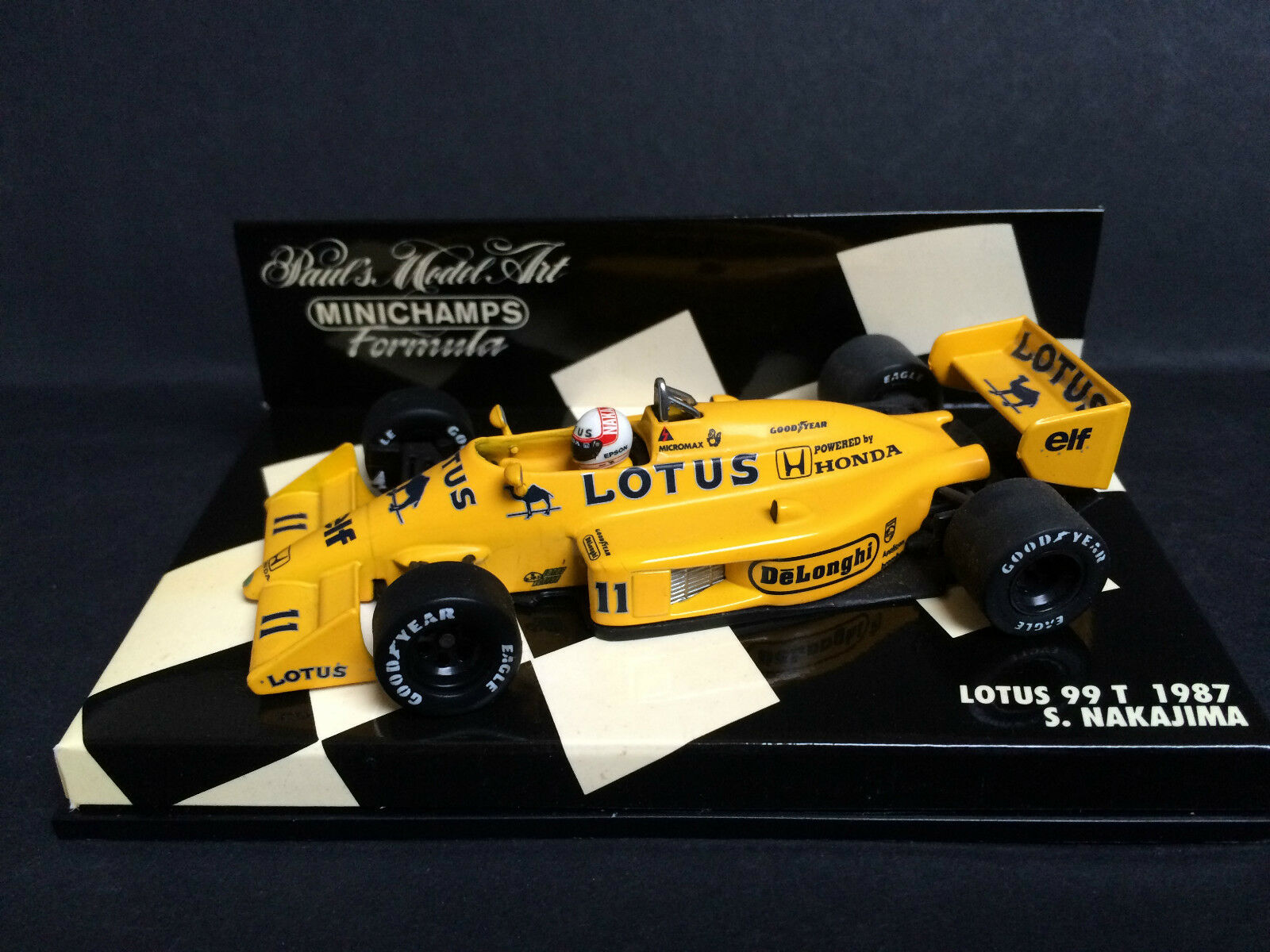 Minichamps - Satoru Nakajima - Lotus - 99T - 1 43 - 1987 - Rare
