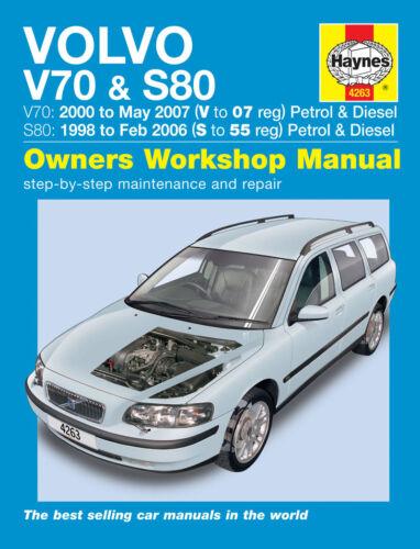 Haynes Manual 4263 Volvo V70 S80 2.0 2.3 2.4 2.5 /& 2.4 D5 T5 SE 1998-2007