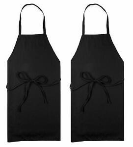 Mandiles Contra El Agua Delantal Para Cocina Mujer Hombre Multiuso Vinilo Negro