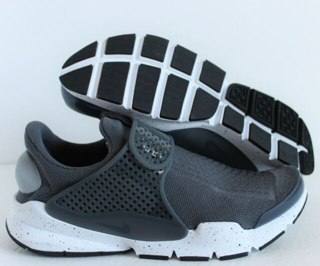 official photos a70c0 06b30 Nike Sock Dart Sz 10 Wolf Grey White Slip on Running Shoes 819686 003