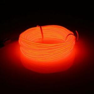 EL-Lumiere-DEL-5-m-flexible-soft-tube-Wire-Neon-Glow-Voiture-Corde-Bande-Rouge-Clair