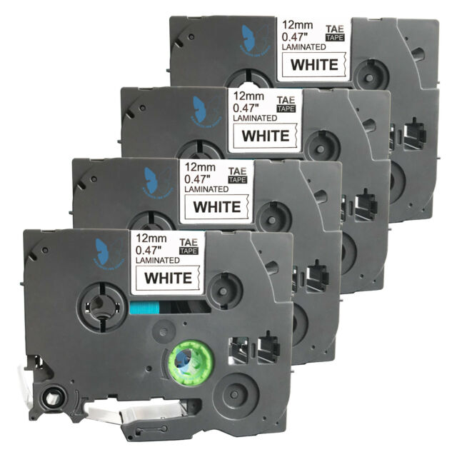 4 New Label Tape for Brother PT 1010 1090 1120 1130 11Q 1280 SR 1290 BT 9800PCN