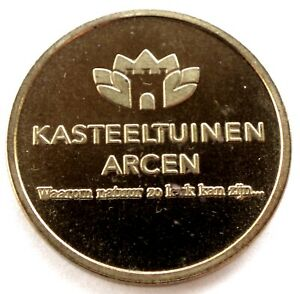 NETHERLANDS-KASTEELTUINEN-ARCEN-Parking-Token-27mm-7-4g-Brass-Rare-NN5-1