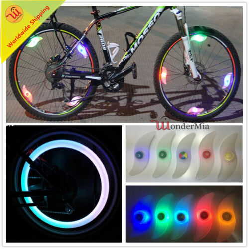 5 COLOR 2pcs Cool Bike Cycling Wheel Spoke LED Flash Signal Light Lamp Snap-on