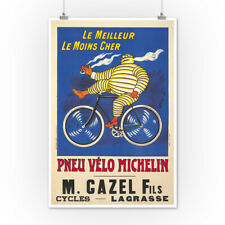 "18x24 1929 Pneu Velo /""Hutchinson Bicycle/"" Vintage Style Poster"