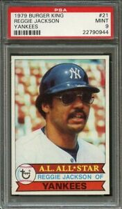 1979-burger-king-yankees-21-REGGIE-JACKSON-new-york-yankees-PSA-9