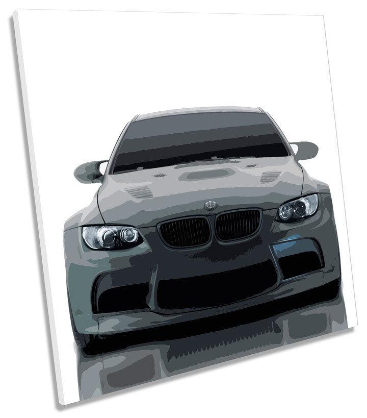 BMW M3 gtrs AUTO SQUARE CANVAS Wall Art incorniciato stampa
